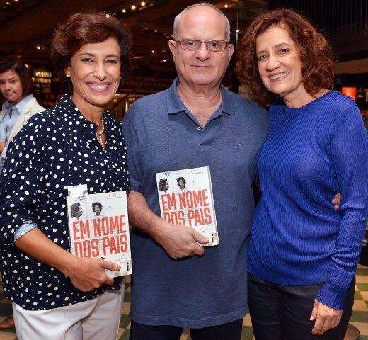 Maria Silvia Bastos Marques, Luiz Erlanger e Míriam Leitão