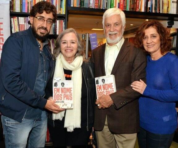 Matheus Leitão, Rosiska Darcy de Oliveira, Edmar Bacha e Míriam Leitão