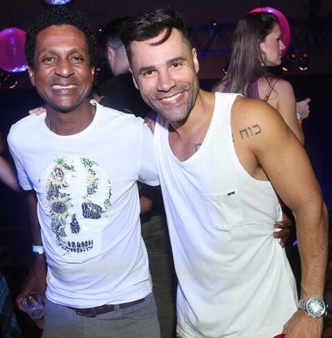 Os humoristas Luiz Miranda e Rodrigo Sant'Anna
