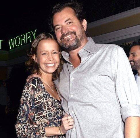 Manoela com o pai, Miguel Pinto Guimarães