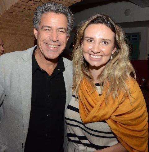 Luiz Calainho e Carol Stolf