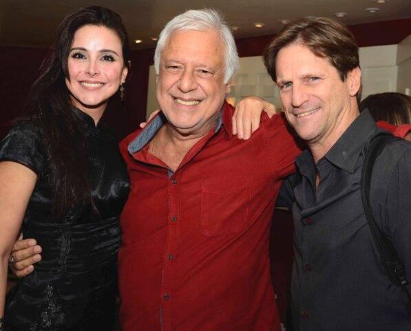 Alexandra Martins, Antônio Fagundes e Ricardo Nauenberg