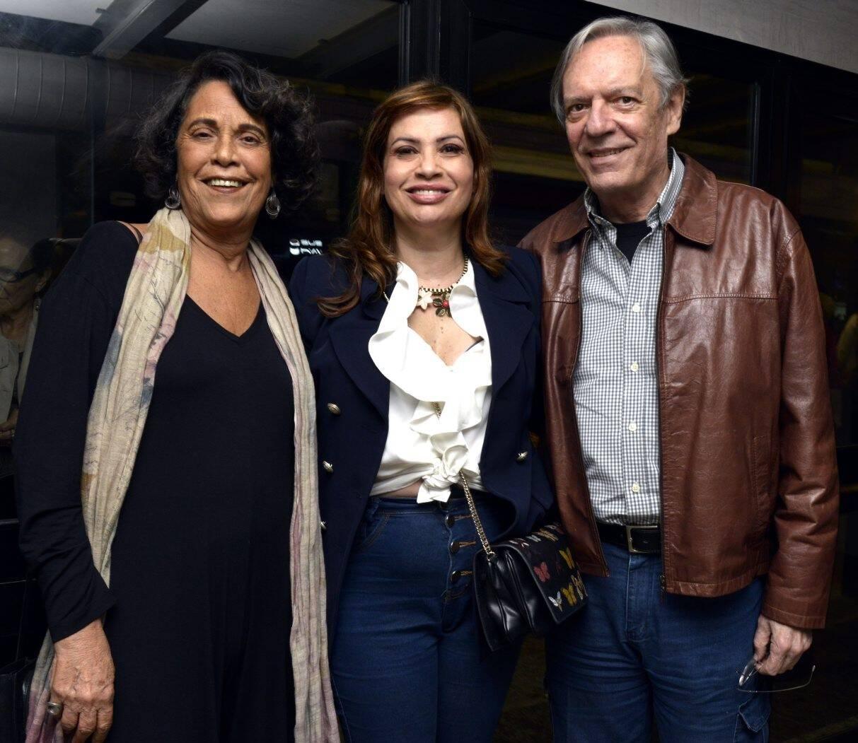 Eliana Caruso, Isadora Ribeiro e Chico Caruso /Foto: Cristina Granato