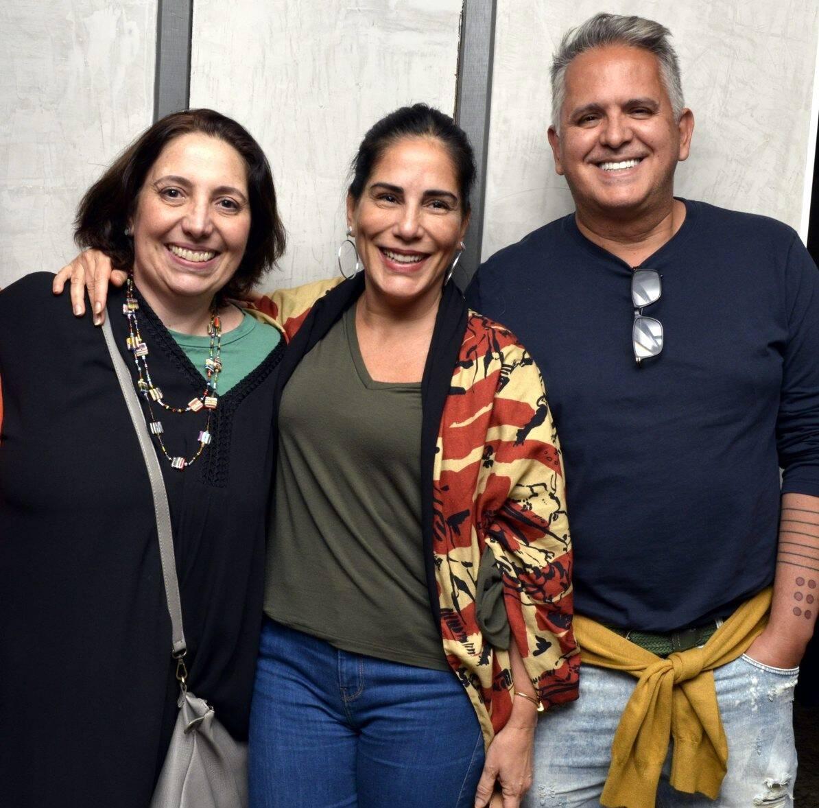 Alice Borges, Glória Pires e Orlando Morais  /Foto: Cristina Granato