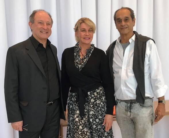 Marcel Rivkind, Bia Doria e Luis Eduardo Indio da Costa