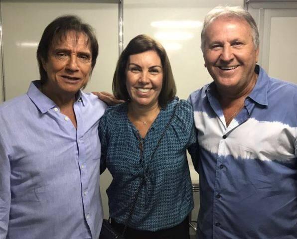 Roberto Carlos, Zico e Sandra Carvalho de Sá