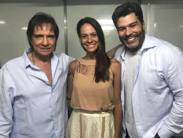 Roberto Carlos, Shay Dufau e Mauricio Mattar