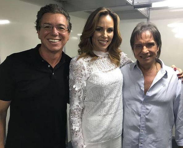 Boninho, Ana Furtado e Roberto Carlos