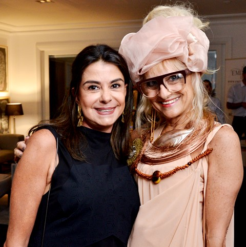 Maria Celia Cury e Gina Elimelek