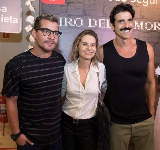 Thiago Martins, Paula Burlamaqui e Reynaldo Gianecchini
