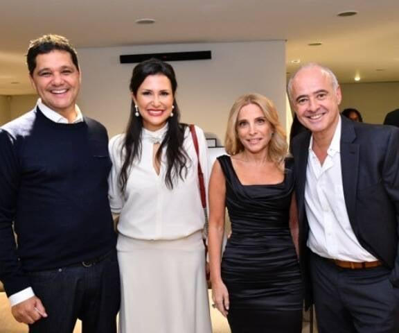 Ricardo Ferraço, Vivian Coser com Sandra e Helio Bork