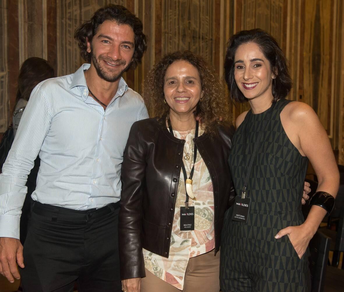 Fabio Szwarcwald,  Antonia Leite Barbosa e Beatriz Milhazes /Foto: Cristina Lacerda