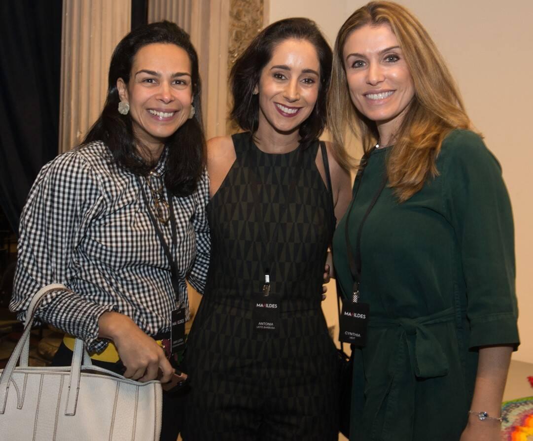 Ana Luisa Souza Machado, Antonia Leite Barbosa e Cynthia Veit /Foto: Cristina Lacerda