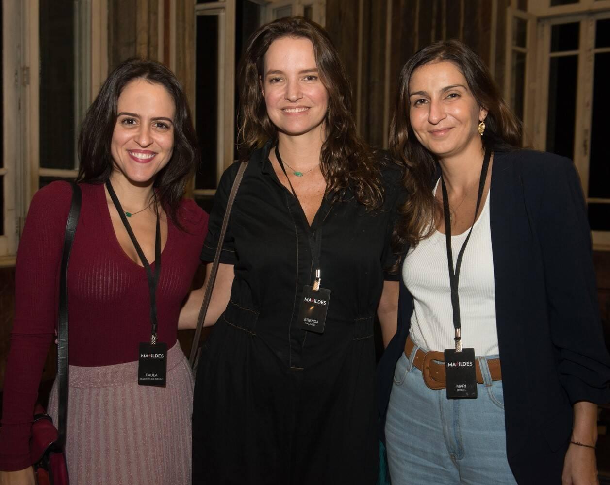 Paula Bezerra de Mello, Brenda Valansi e Mari Bokel /Foto: Cristina Lacerda
