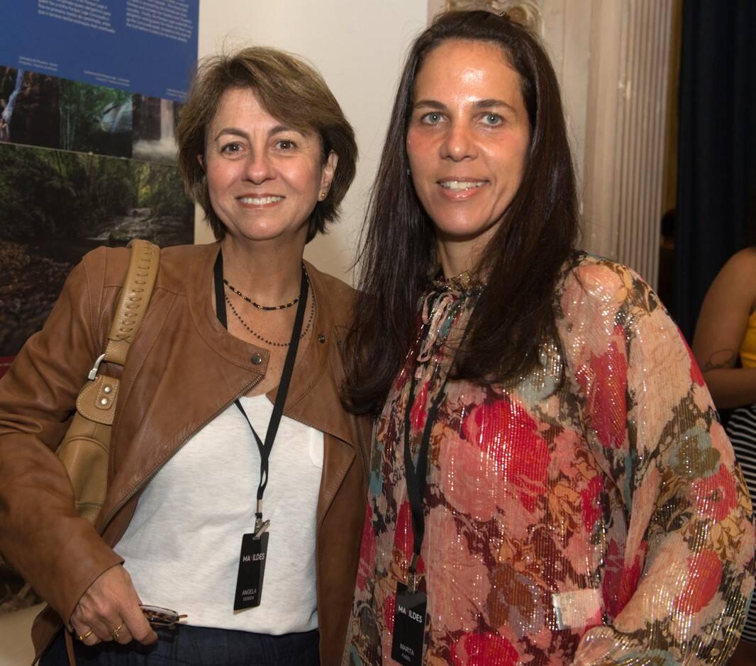 Angela Siemsen e Marta Fadel /Foto: Cristina Lacerda