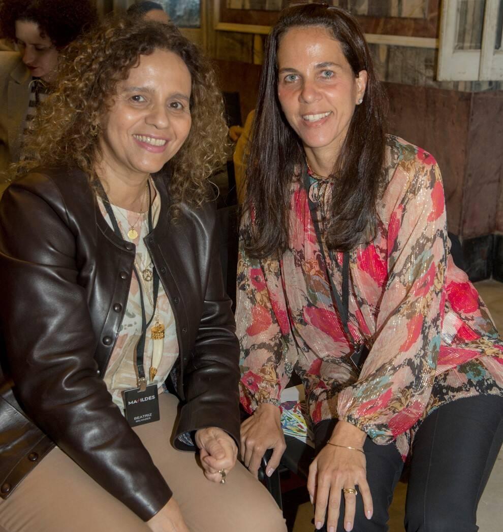 Beatriz Milhazes e Marta Fadel /Foto: Cristina Lacerda