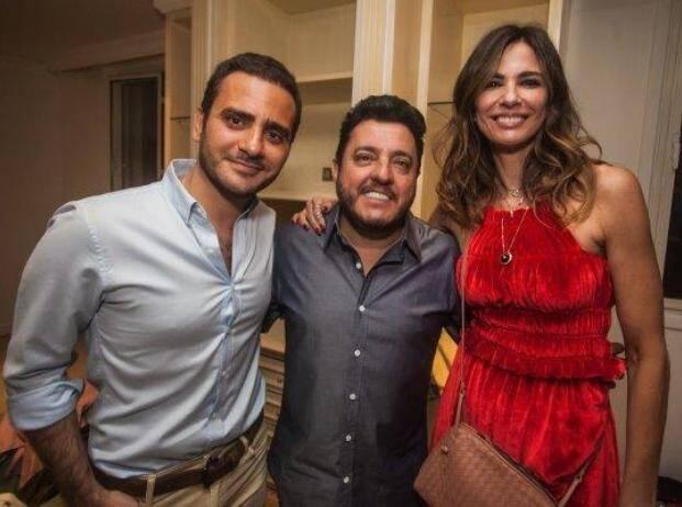 O aniversariante Sergio Kamalakian com o cantor Bruno e  a apresentadora Luciana Gimenez