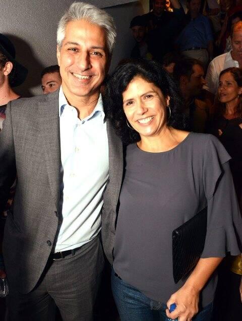 Alessandro Molon e sua mulher Clarisse