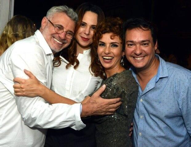 Tadeu Aguiar, Vanessa Gerbelli, Amanda Acosta e Eduardo Bakr