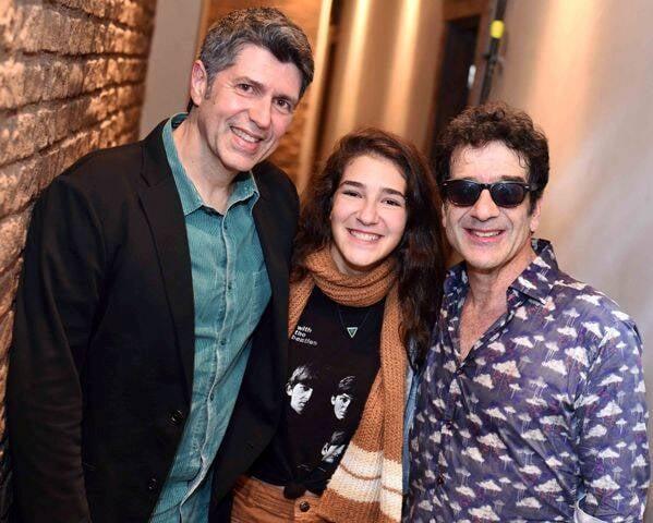 Leoni com Catharina e George Israel