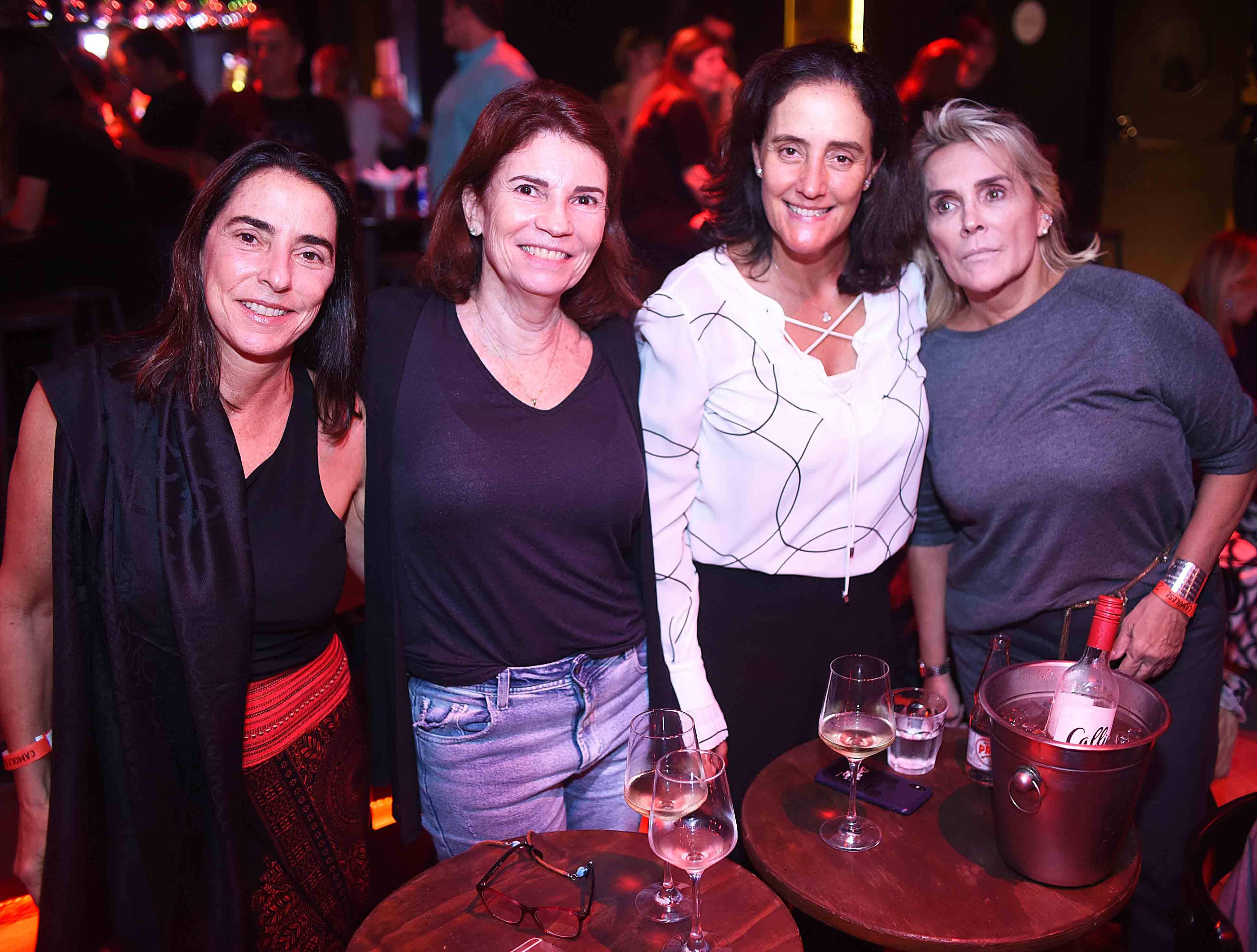 Adriana Santana, Martine Gerbaud, Eliane Lustosa e Denise Bastos / Foto: Ari Kaye