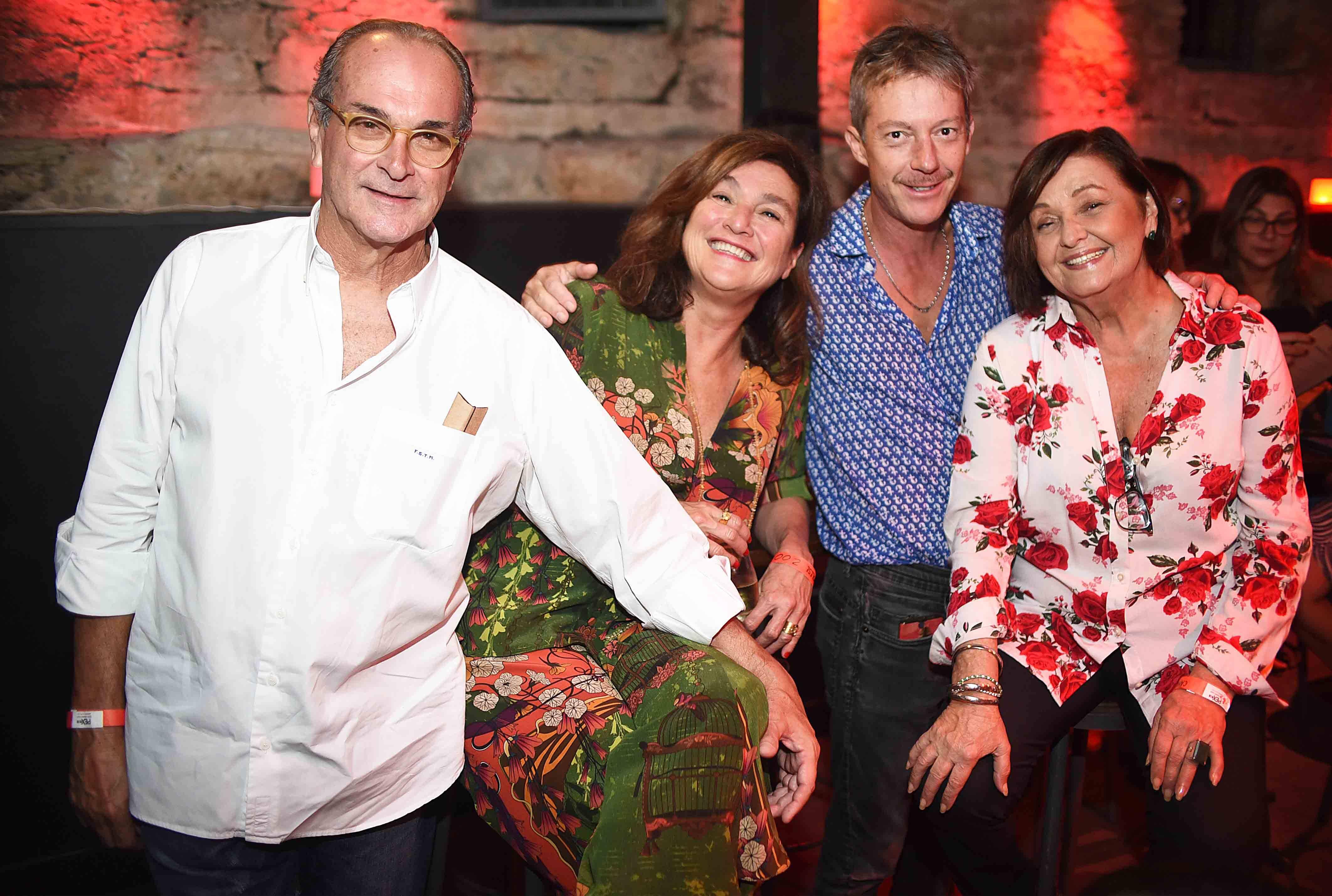Fernando Teixeira de Mello, Andrea Prado, Luis Saldanha e Raquel Guerreiro/ Foto: Ari Kaye