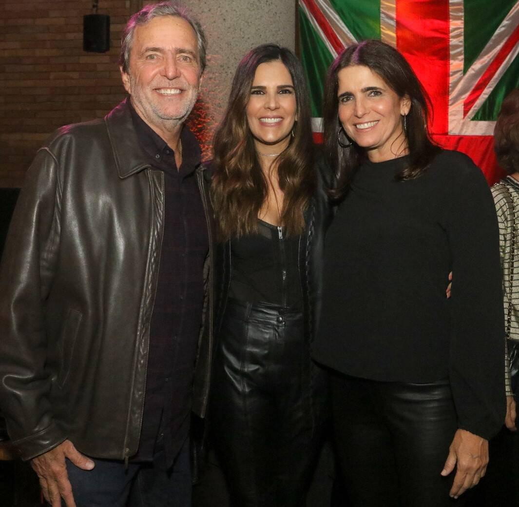 Luis Felipe Mader, Claudia Romano e Malu Mader /Foto: Reginaldo Teixeira