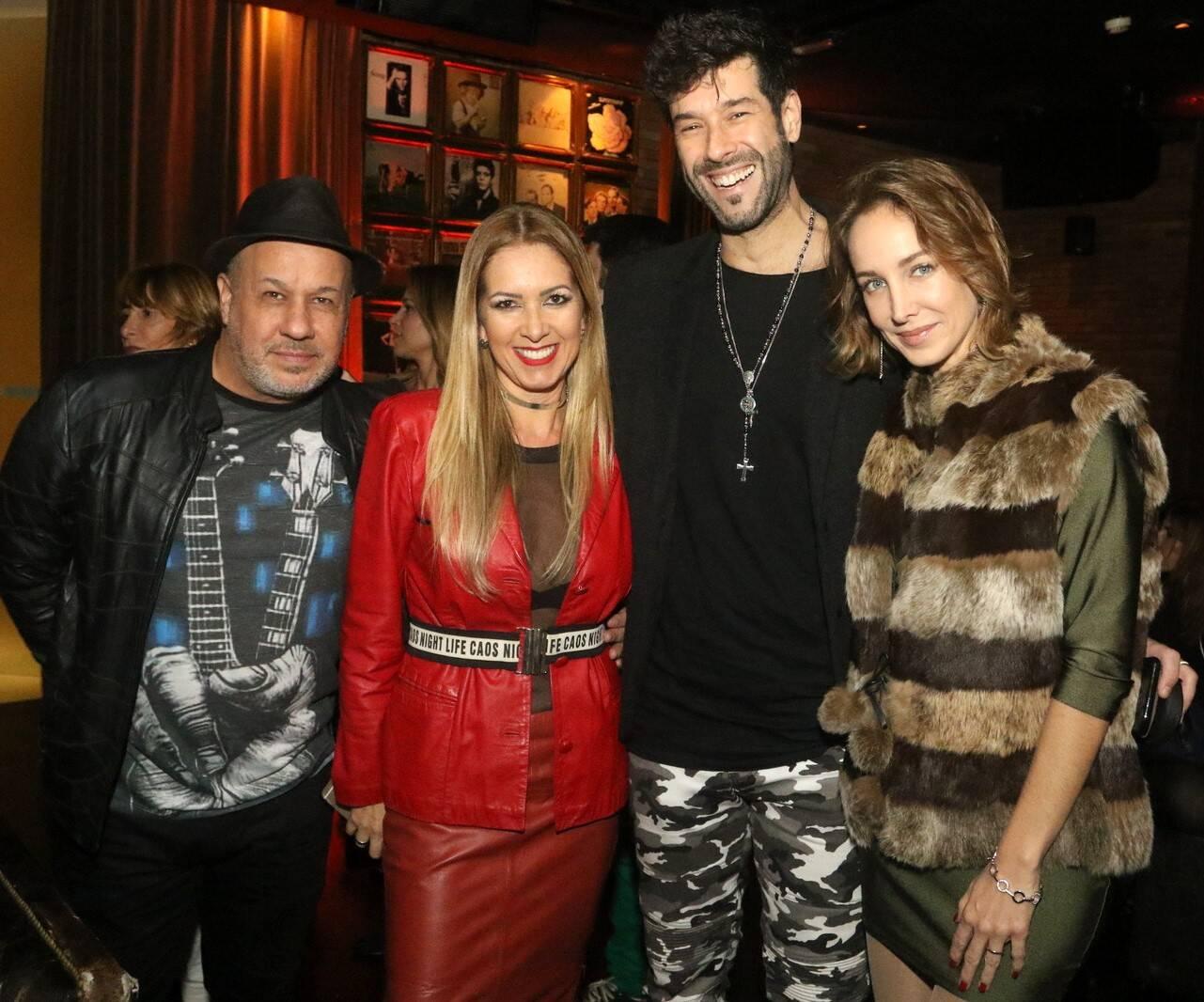 Berbel, DJ Dri Carvalho, Daniel Delsarta e Hazel Fishdick /Foto: Reginaldo Teixeira