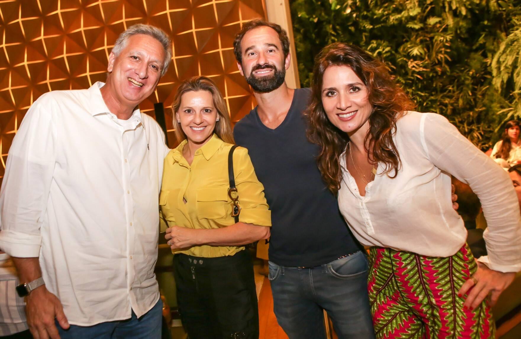 Marcus Vinicius Freire, Claudia Liechavicius, Giulio Visconde e Chiara Civello  /Foto: Gianne Carvalho