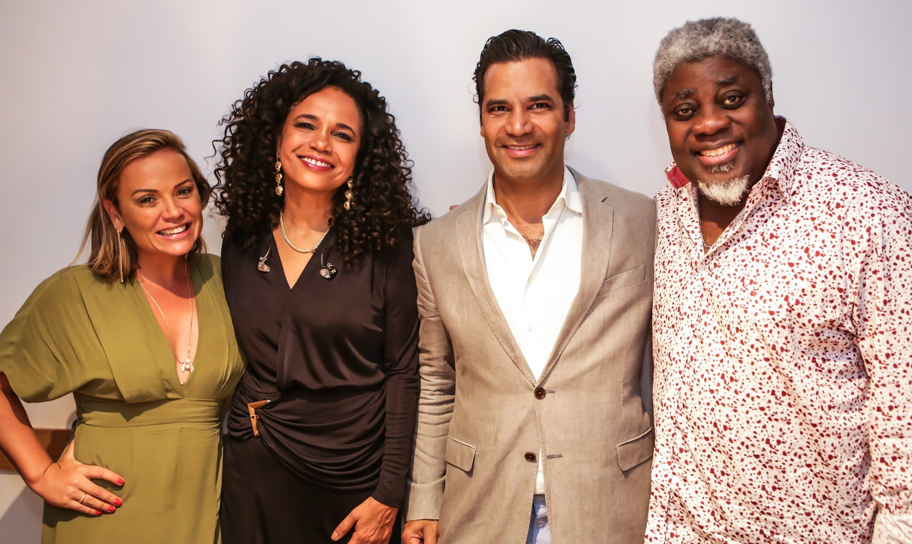 Paula Simonsen, Teresa Cristina, Gustavo Filgueiras e  Carlinhos 7 Cordas  /Foto: Gianne Carvalho