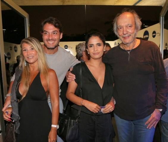 Daniele e Leo Esteves com Fernanda Passos e Erasmo Carlos