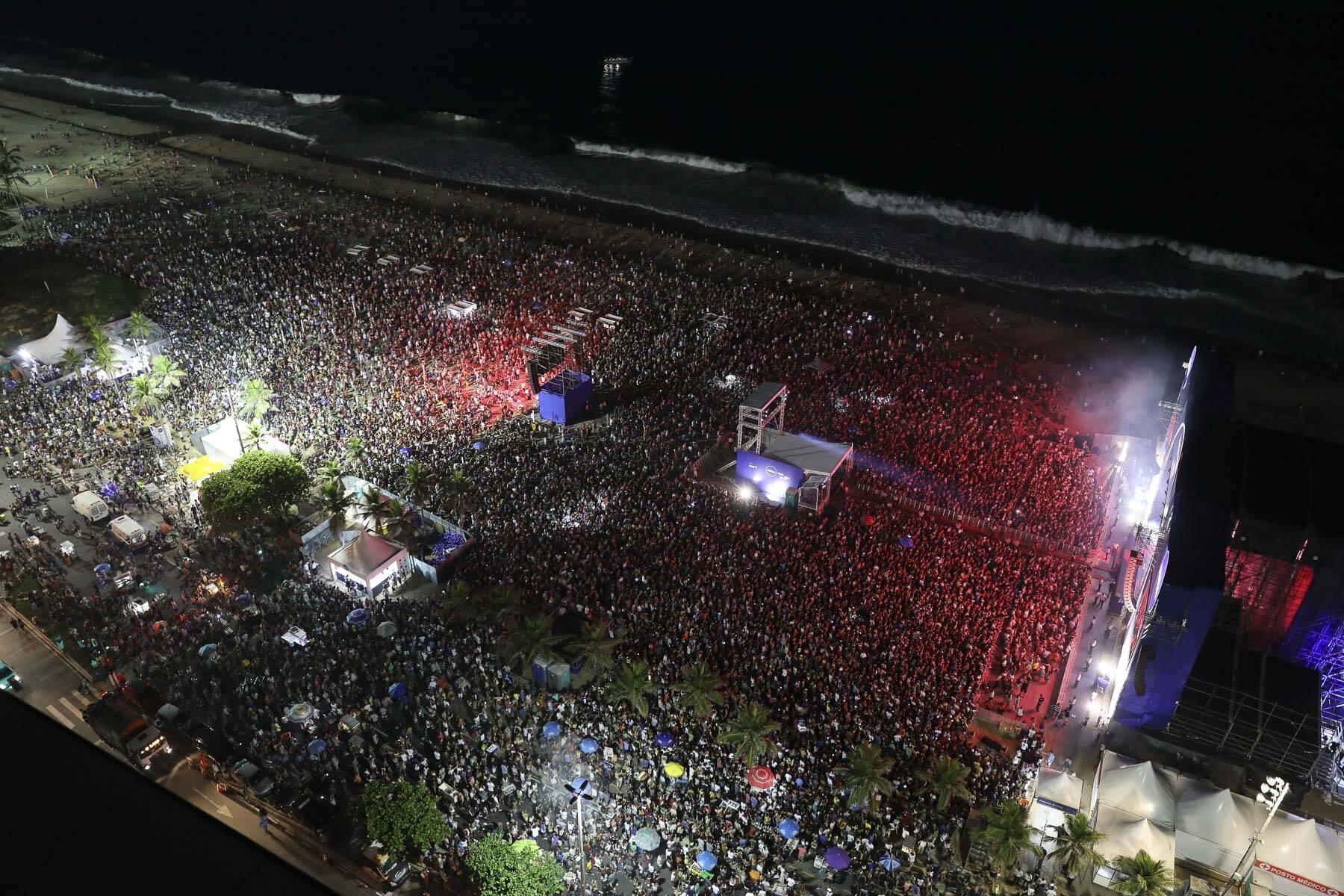 Visão aérea do show de Jorge Ben