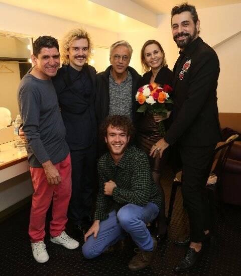 Jujuba, Yuri Ribeiro, Caetano Veloso, Paula Burlamaqui, Jorge Farjalla e Vitor Thiré
