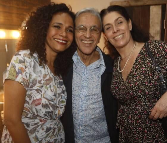 Teresa Cristina, Caetano Veloso e Paula Lavigne