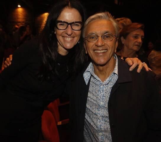 Monique Ganderberg e Caetano Veloso