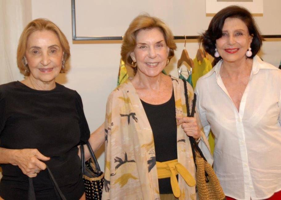 Laura Perdeneiras, Tança Burity e Carmen Sylvia Peltier de Queiroz / Foto: Marco Rodrigues