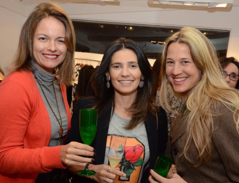 Renata Fraga, Joana Rocha e Nathalie Engelmann
