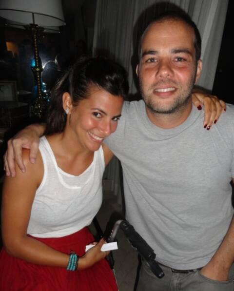 Nicole Tamborindeguy e o DJ Xande Ostrovsky