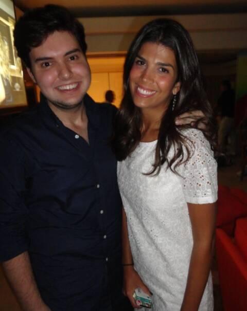 Filipe Motta e Nina Garcia