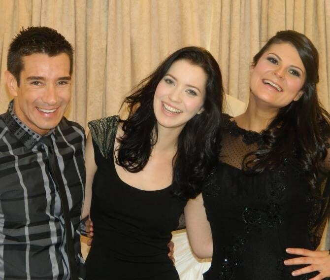 Marcelo Hicho, Nathália Dill e a estilista Marie Lafayette