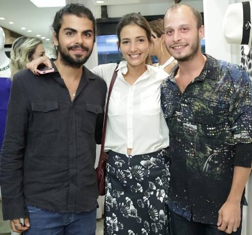 Eduardo Migon, Georgia Bonisson e Bernardo Biaso