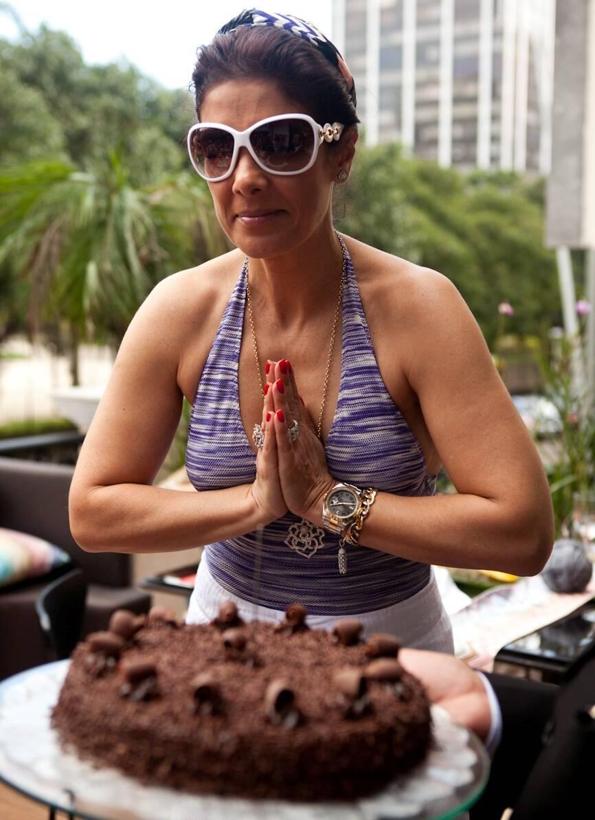 Patrícia Brandão e seu bolo de aniversário