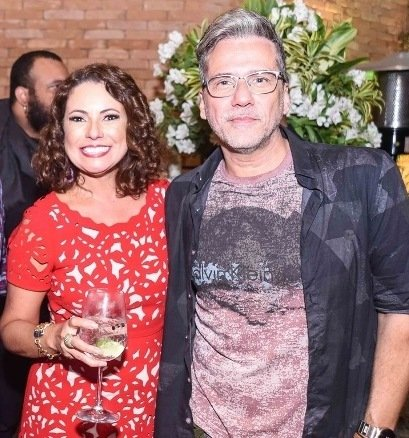 Renata Araújo e Marcelo Faustini