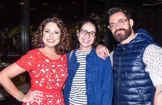 Renata Araújo, Mariana Hirsch e Geff Ruas