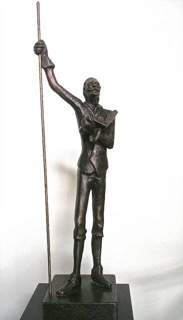 """Escultura de Dom Quixote: um """"Oscar"""" brasileiro feito por Edgar Duvivier para os melhores da Literatura, Cinema, Teatro e Jornalismo"""
