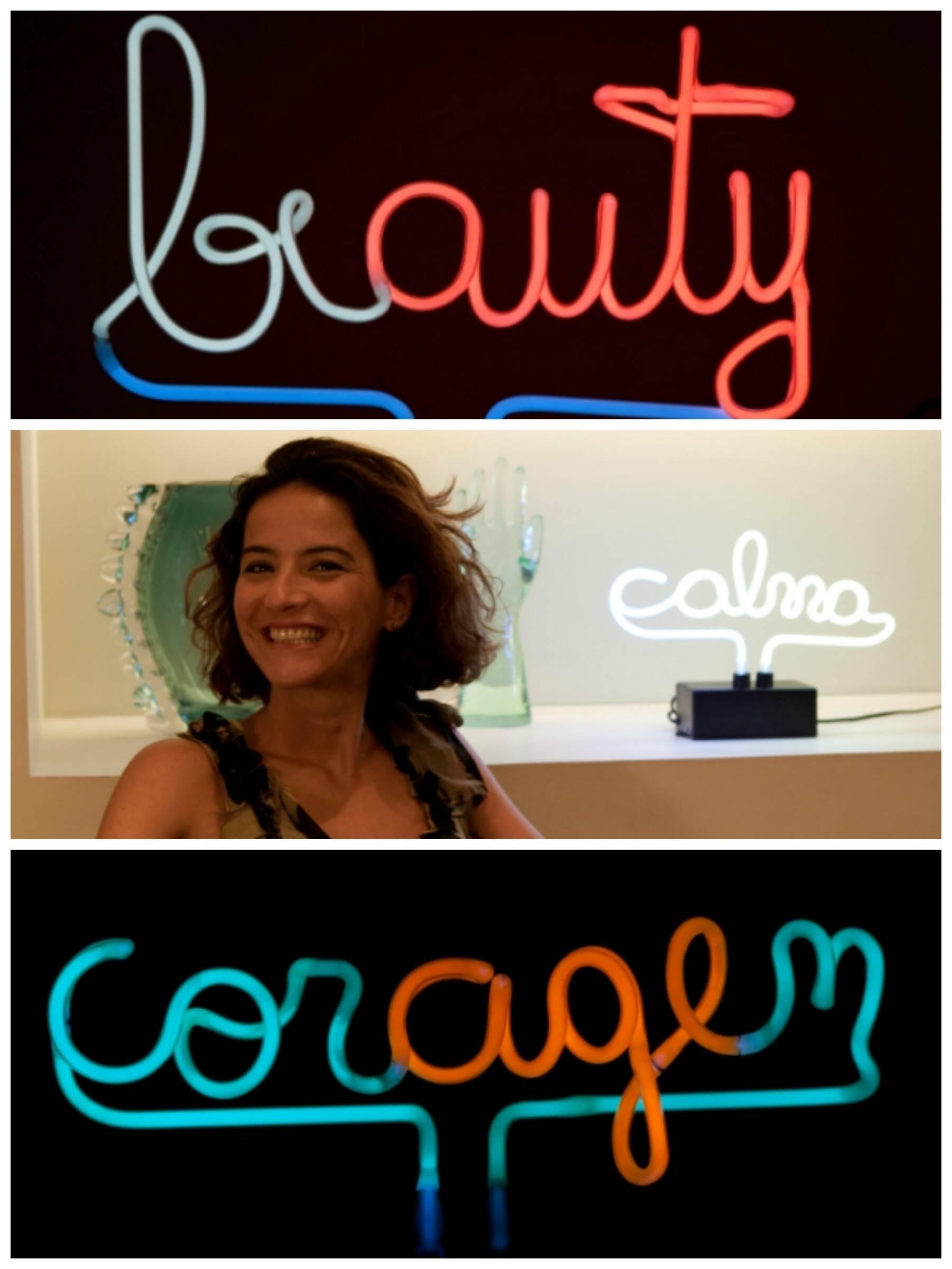 AMA, nome artístico de Alessandra Magalhães Azambuja, entre suas criações / Foto: divulgação