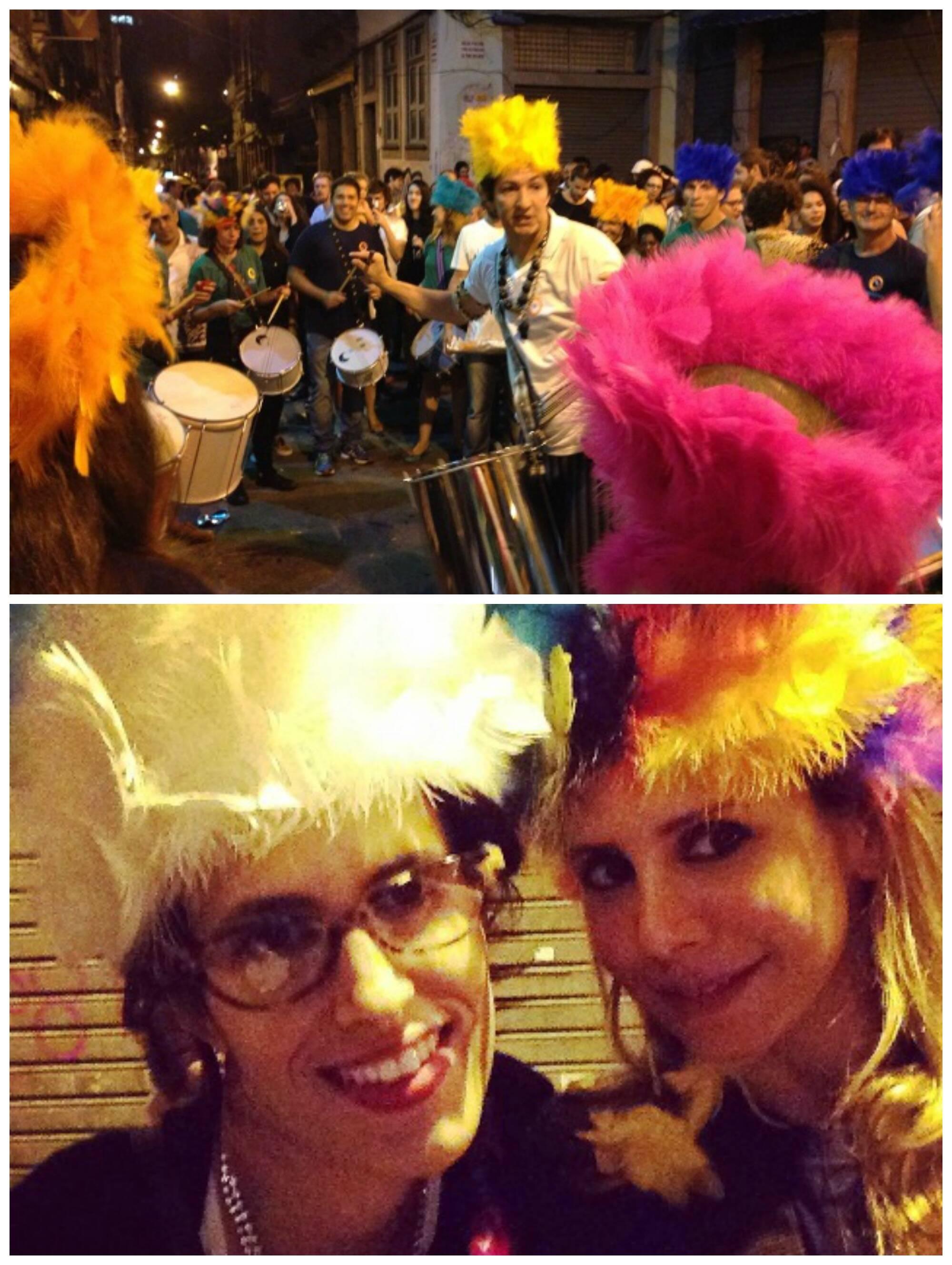 As irmãs Olívia e Antônia Galdeano: gosto pelo carnaval é genético