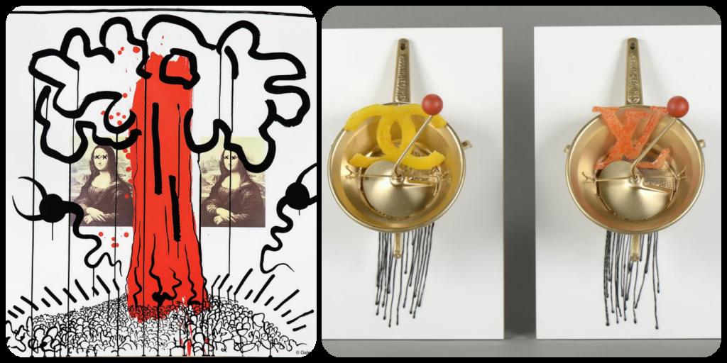 Lado a lado, obra de Keith Haring e Zokatox