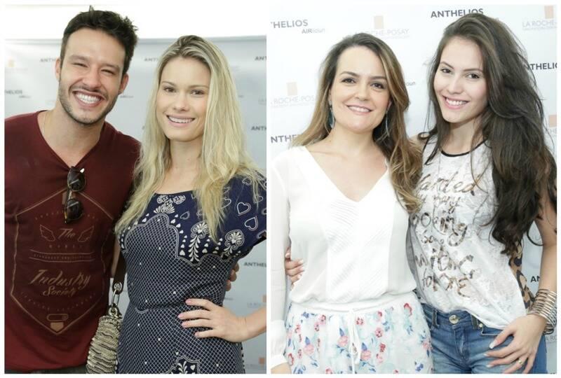 À esquerda, Nando Rodrigues e Karen Junqueira; ao lado, a Dra. Aline Vieira com Ana Carolina Dias/ Fotos: Miguel Sá