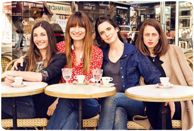 As autoras Audrey Diwan, Caroline de Maigret, Sophie Mas e Anne Beret